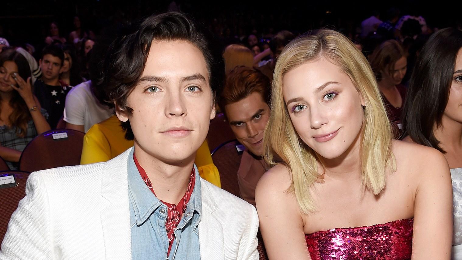 Inside Teen Choice Awards 2018 KJ Apa photobomb Cole Sprouse Lili Reinhart