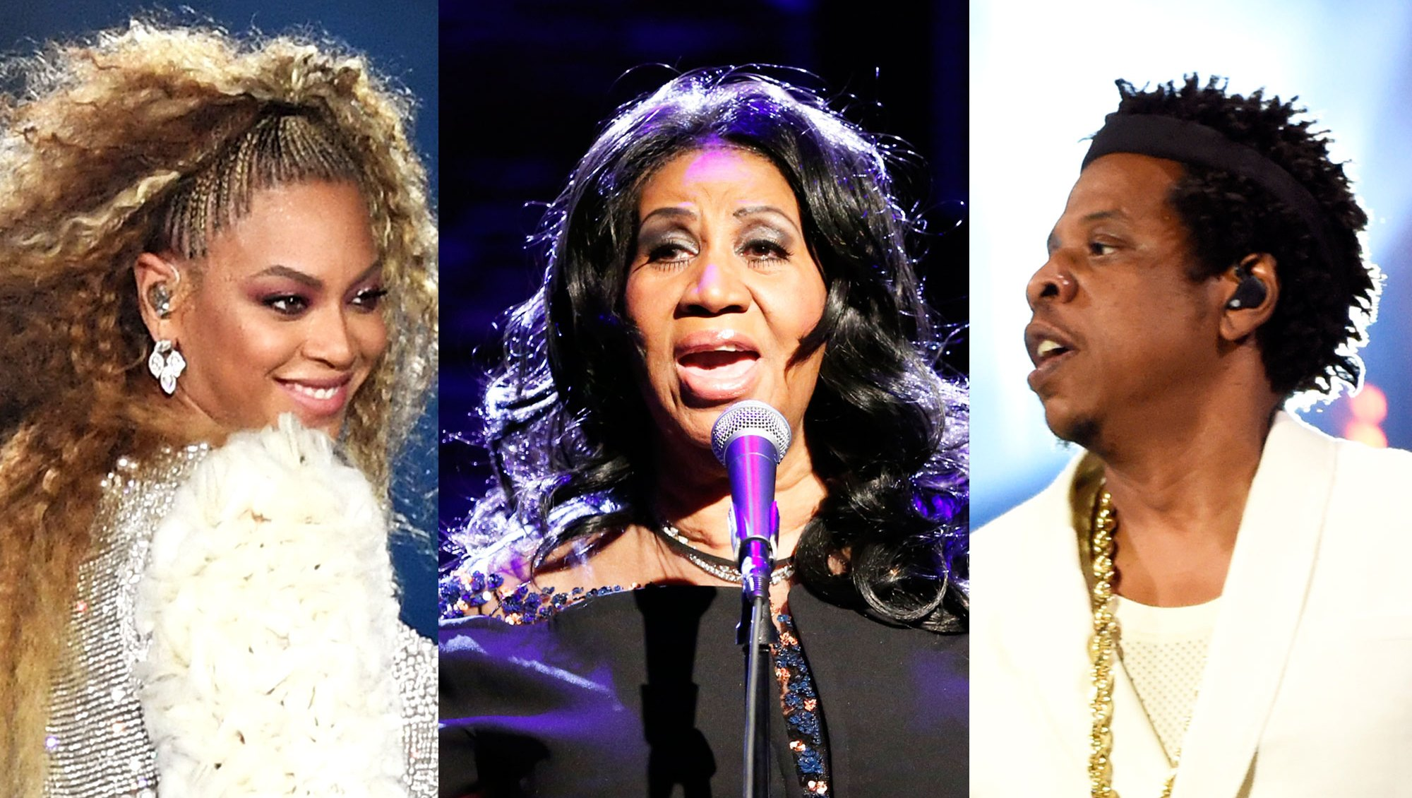 Beyonce, Aretha Franklin and Jay-Z