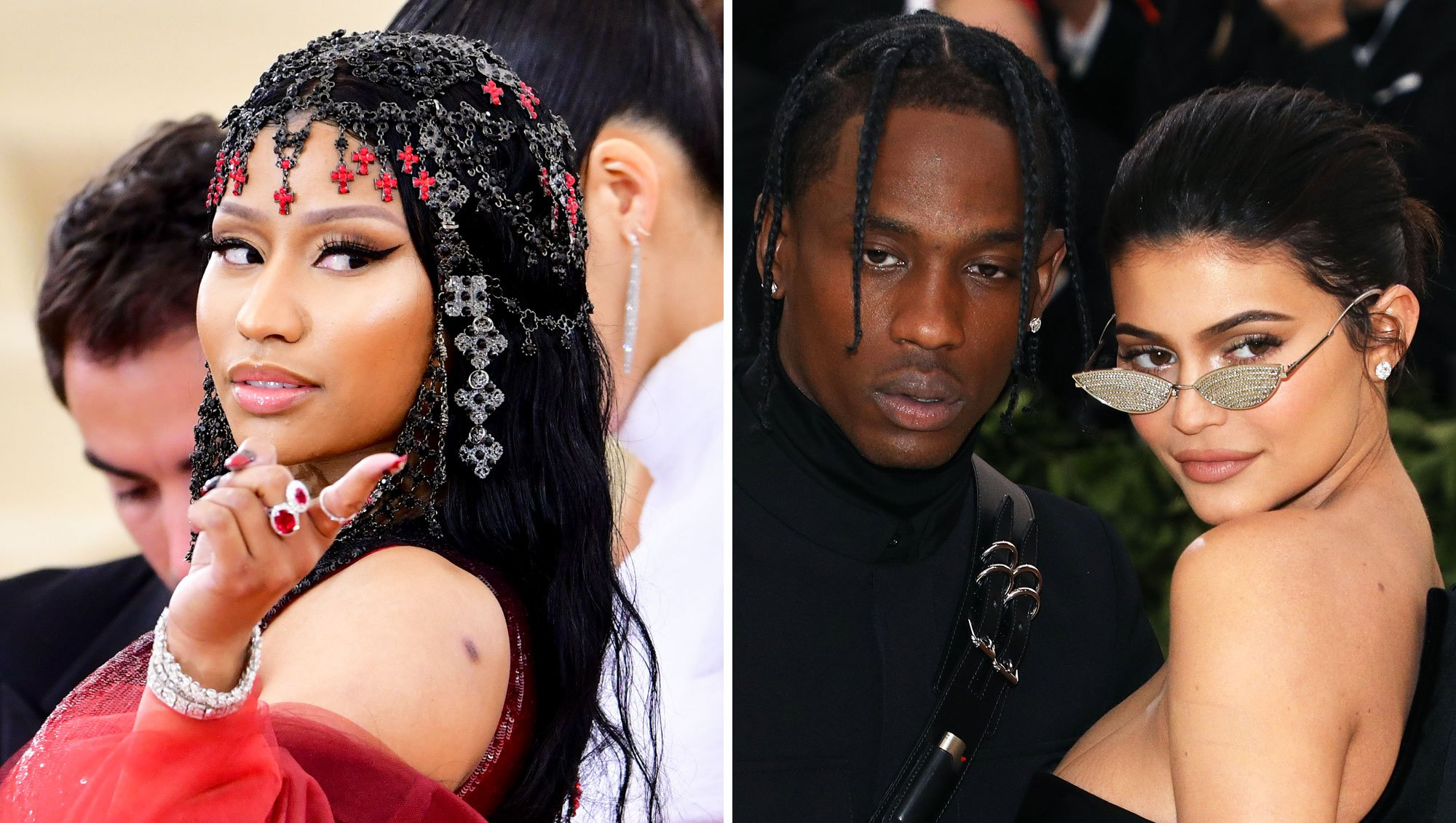 Nicki Minaj, Travis Scott and Kylie Jenner