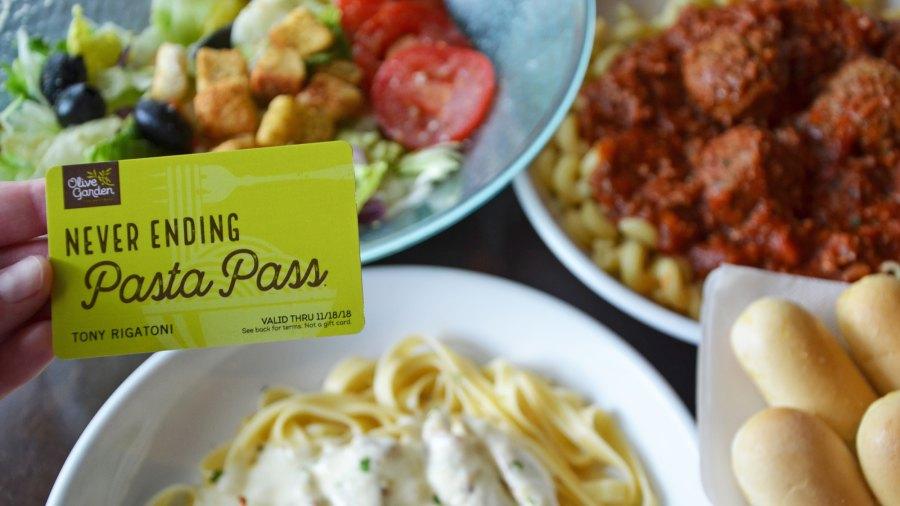 Olive Garden pasta pass