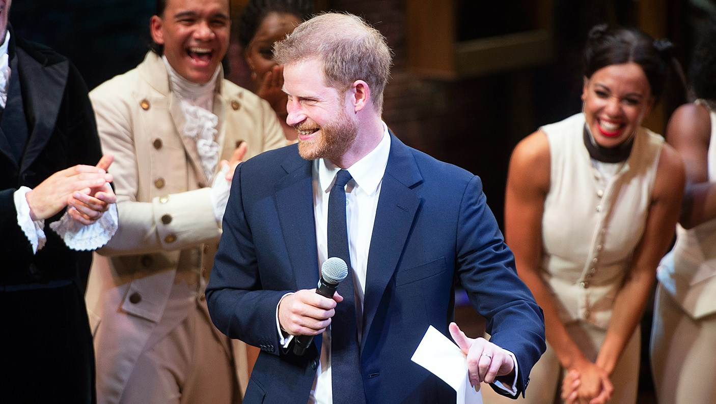 prince harry sings king george III song hamilton