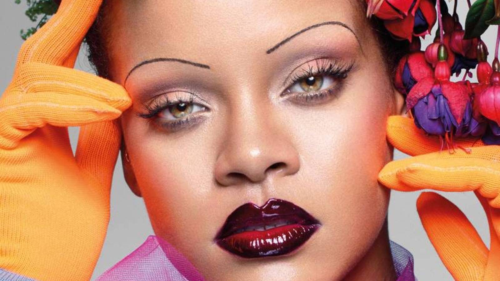 Rihannas Itty Bitty Brows On British Vogue Are An Iconic Throwback