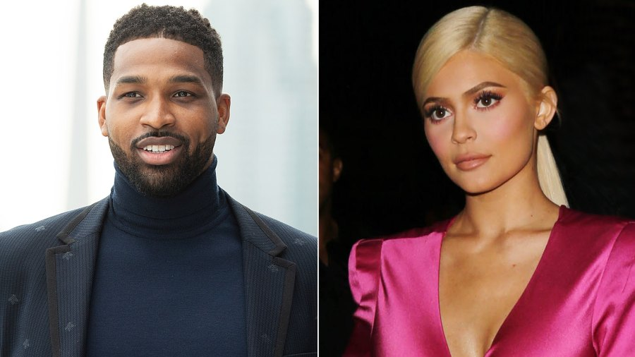 Tristan Thompson and Kylie Jenner.