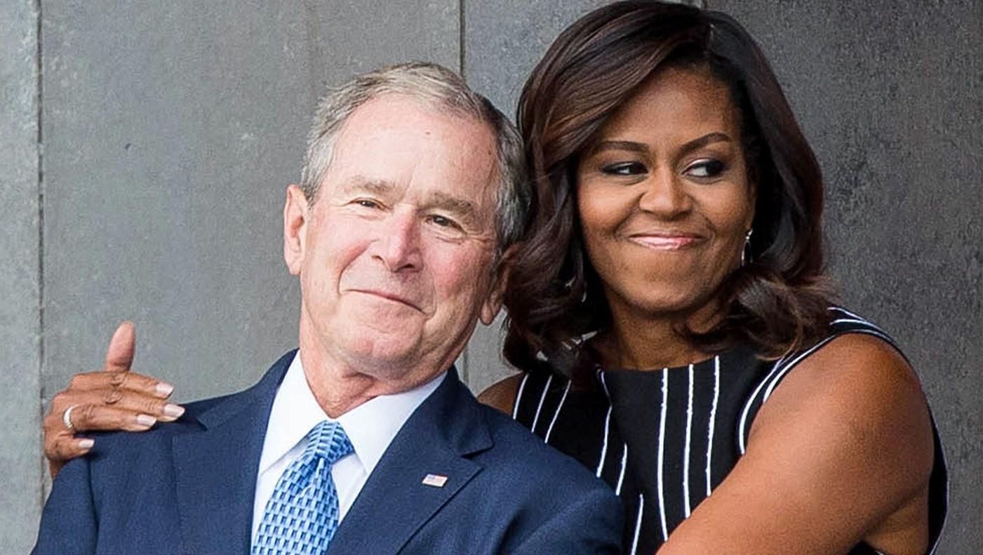 George W. Bush, Michelle Obama, US Senator John McCain, Memorial, Funeral