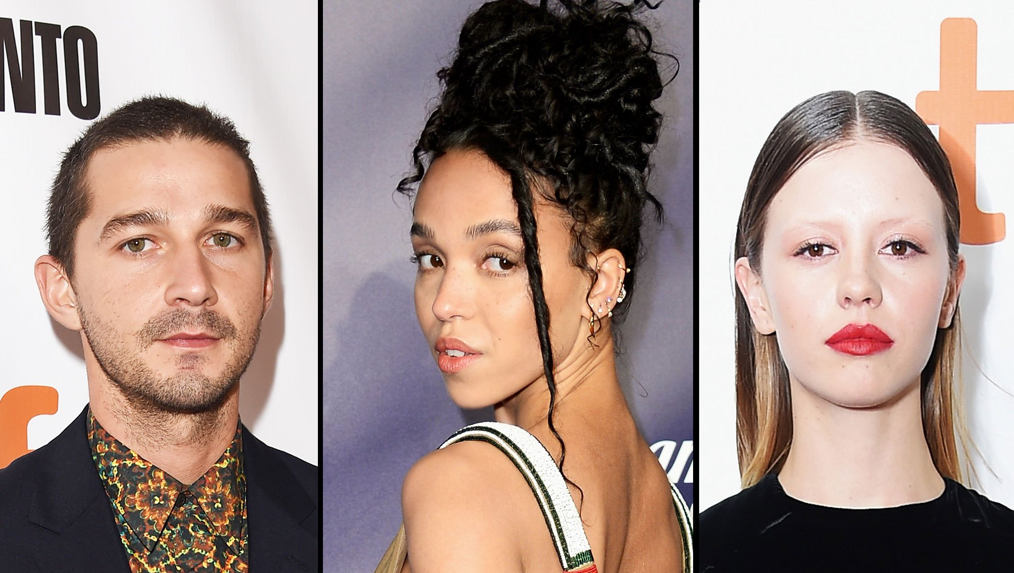 Shia LeBeouf, FKA Twigs and Mia Goth
