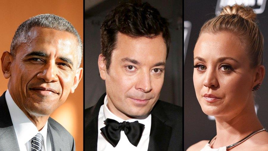 Barack Obama, Jimmy Fallon and Kaley Cuoco