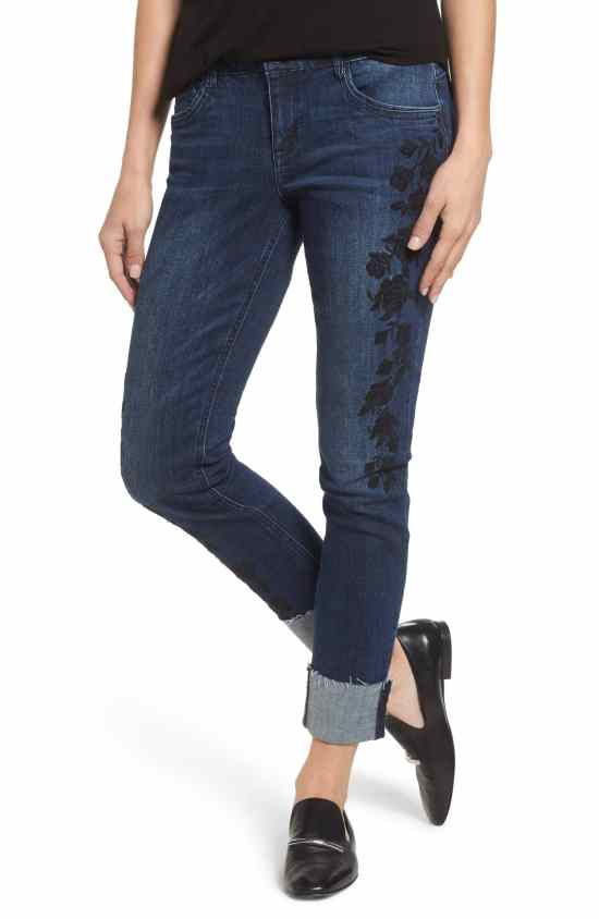 floral boyfriend jeans Nordstrom