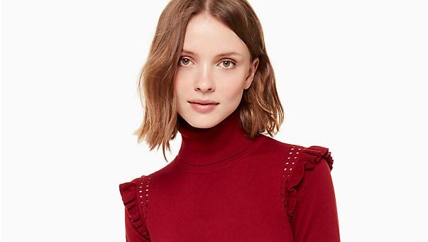kate spade turtleneck sweater red