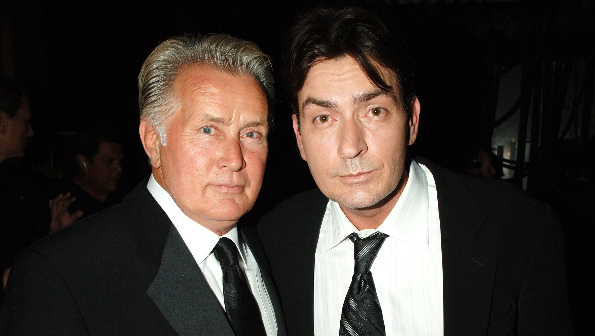 Martin Sheen and Charlie Sheen, presenters