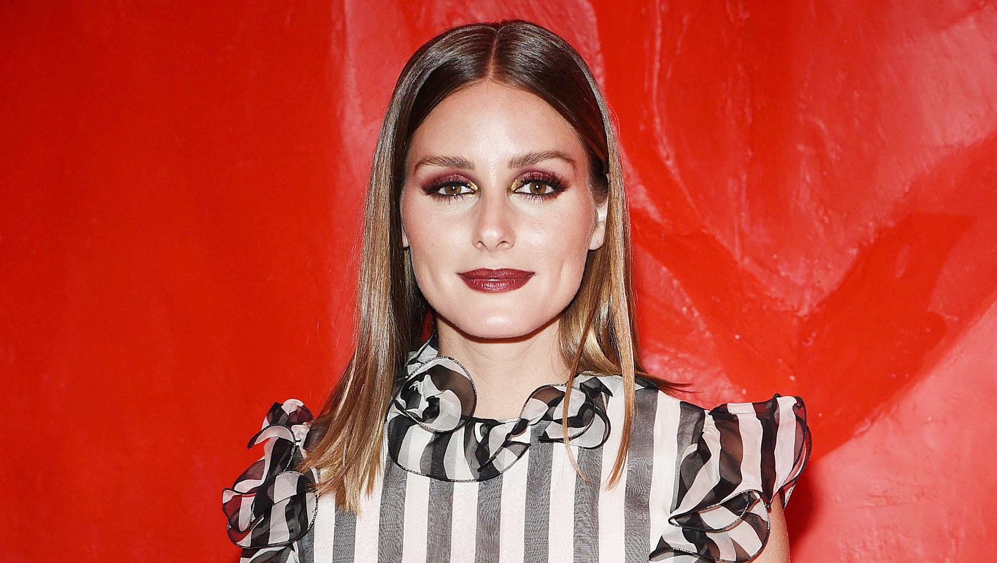 Found A Vampy End Of Summer Makeup Option Courtesy Of Olivia Palermo  C2 B7 Celebrity Fashion