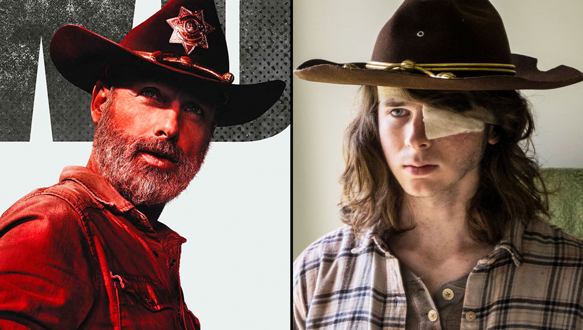 Rick and Carl on 'The Walking Dead'