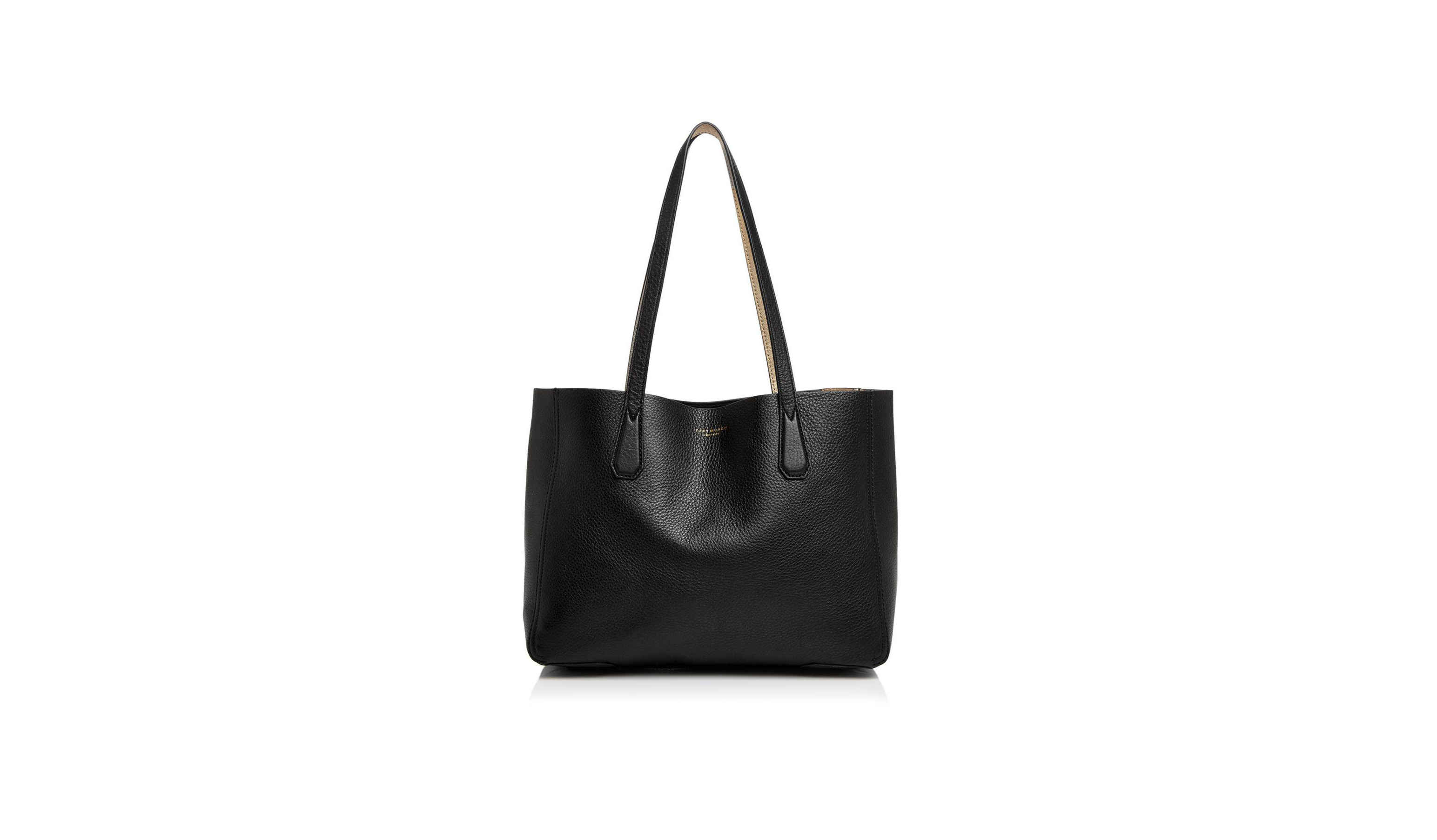 a675a221e ... real this tory burch leather tote is the perfect everyday bag 2480f  9e70b