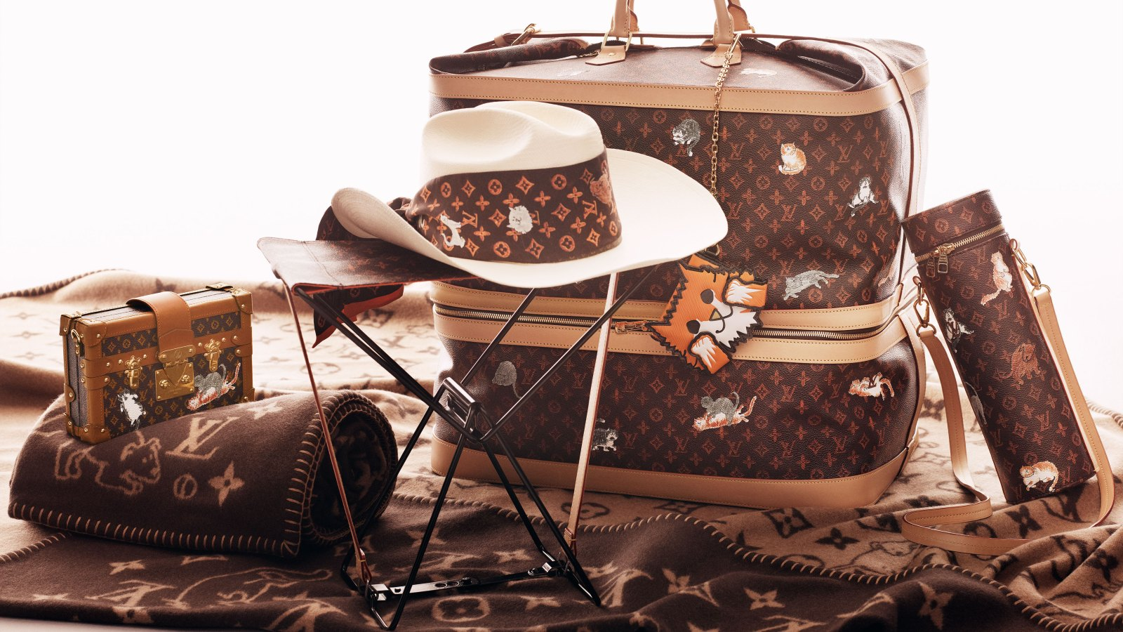 dd8ec9759084 Louis Vuitton and Grace Coddington Teamed Up on an Accessories Collection  for Cat Lovers