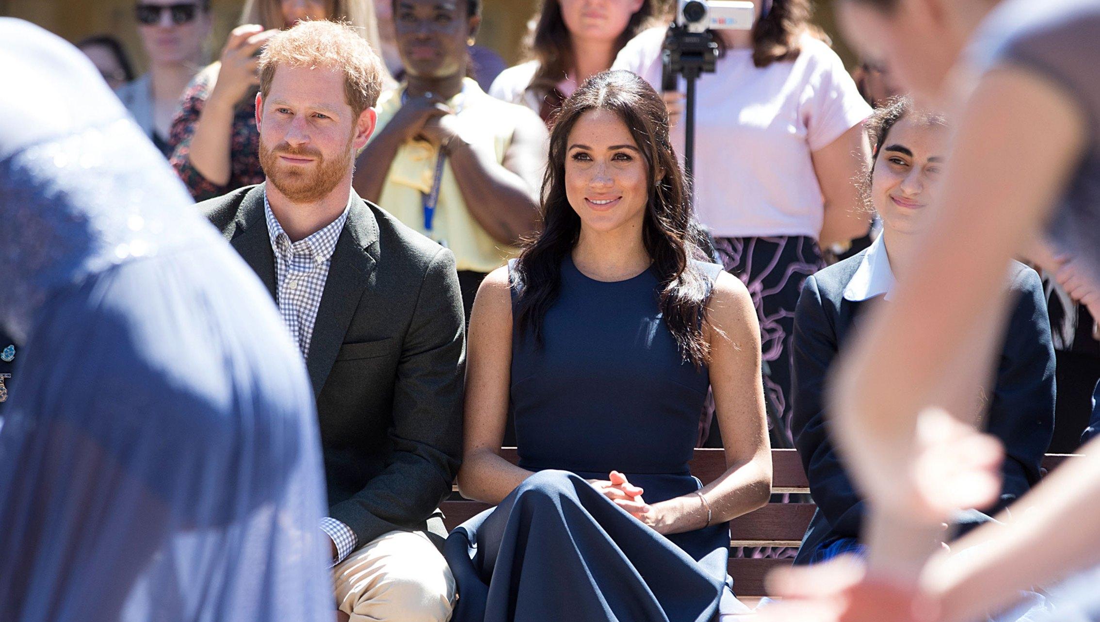 Prince Harry Duchess Meghan Macarthur Girls High School