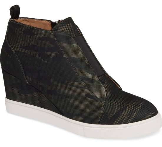 camouflage linea paolo wedge bootie