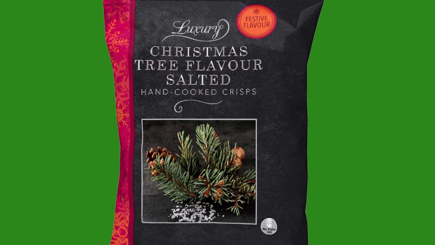 Iceland's Christmas Tree Flavoured Chips