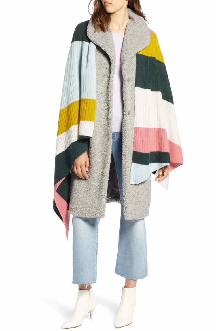 colorful draped shawl cashmere