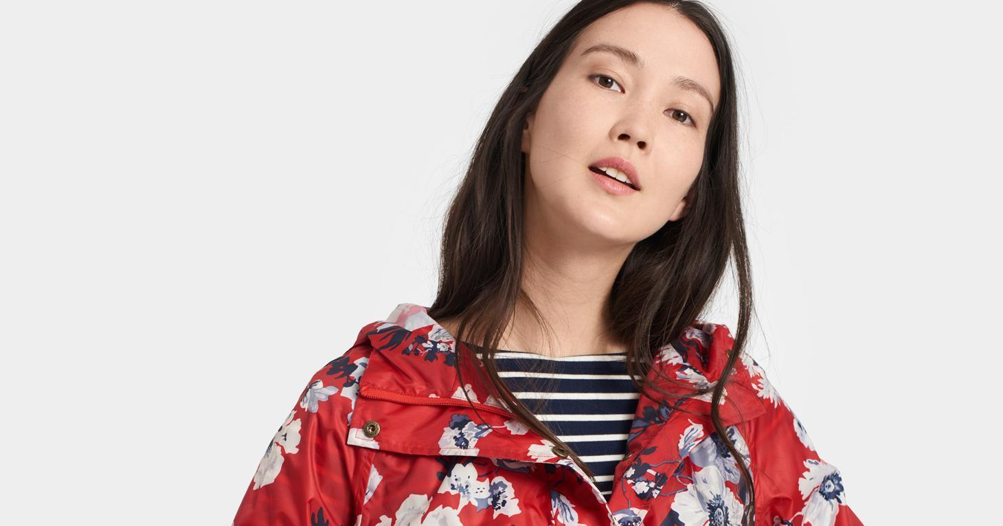 Keep Dry in Style With This Pretty Printed Raincoat for Just $50