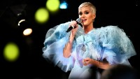 Katy Perry performs onstage at the amfAR Gala Los Angeles 2018