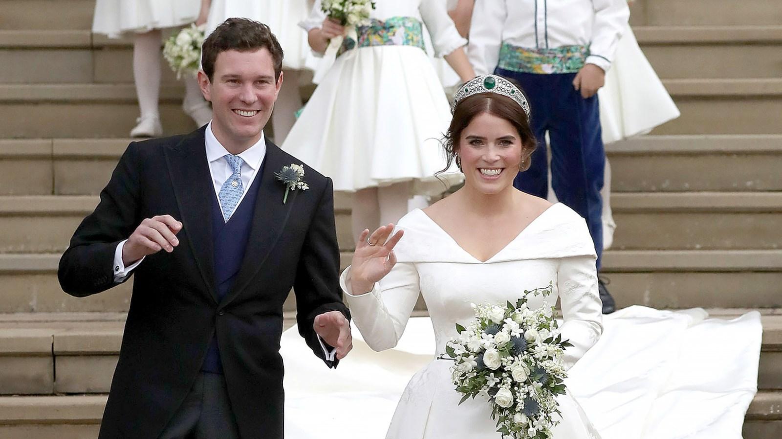 Eugenie Wedding Dress.Princess Eugenie Wears Peter Pilotto Wedding Dress Details