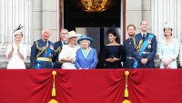 Prince Charles, Prince of Wales, Prince Andrew, Duke of York, Camilla, Duchess of Cornwall, Queen Elizabeth II, Meghan, Duchess of Sussex, Prince Harry, Duke of Sussex, Prince William, Duke of Cambridge and Catherine, Duchess of Cambridge