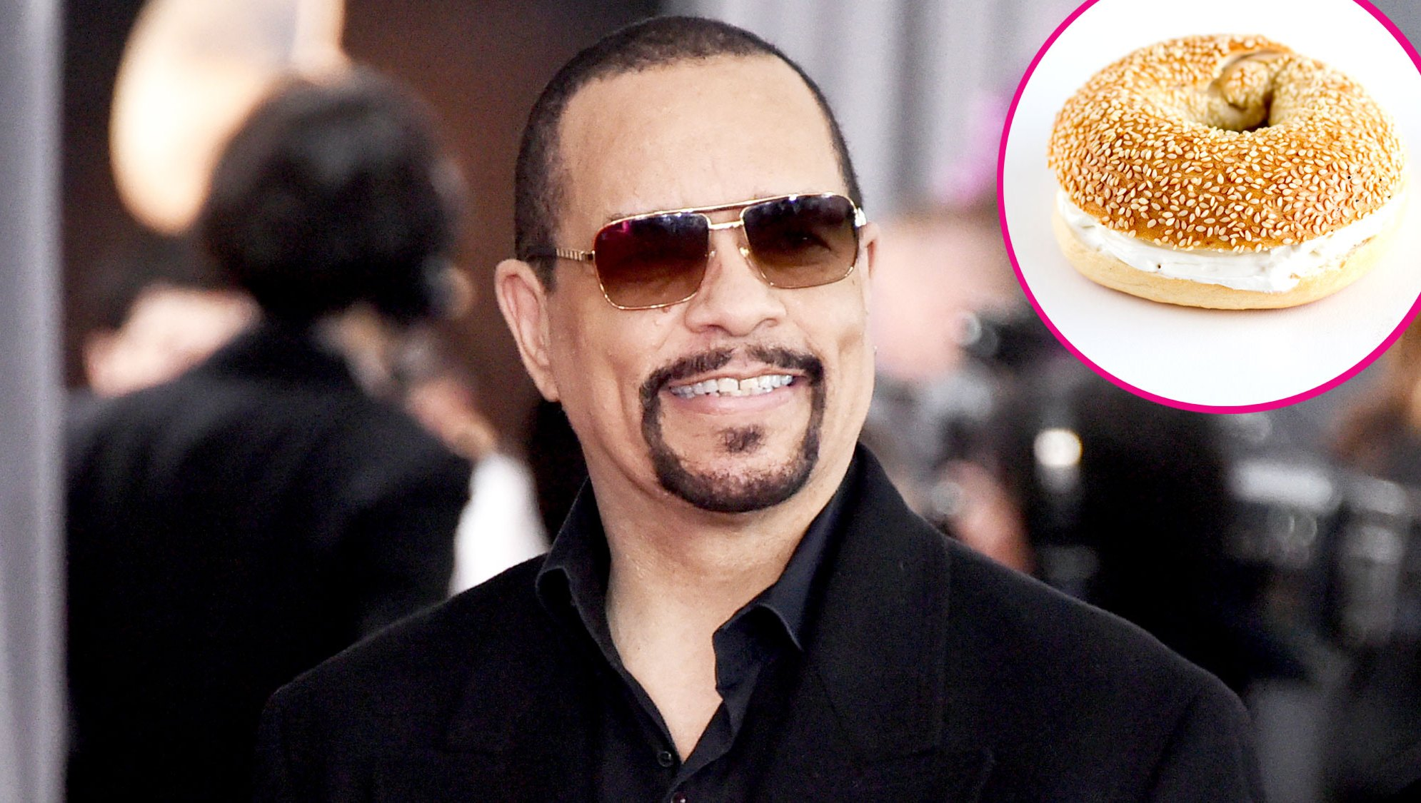 Ice-T and a bagel