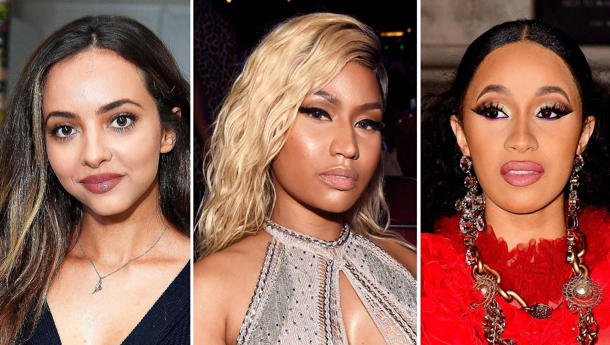 Jade Thirlwall, Nicki Minaj and Cardi B
