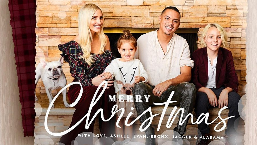 ashlee-simpson-evan-ross-holiday-card