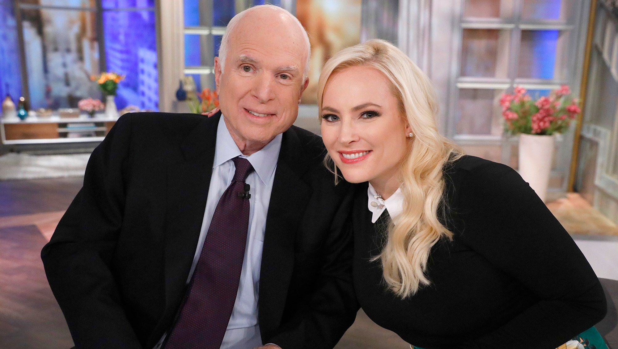 Senator John McCain and daughter, Meghan McCain