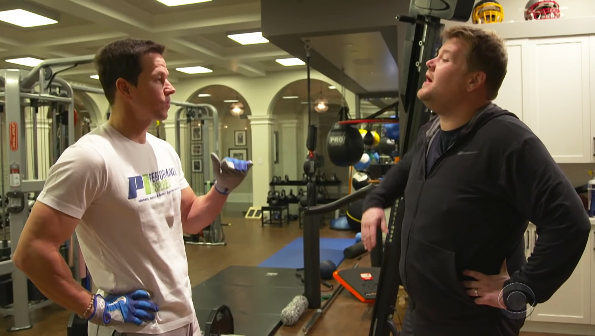 Mark Wahlberg Warns James Corden Their 4 a.m. Workout Is 'Gonna Suck'