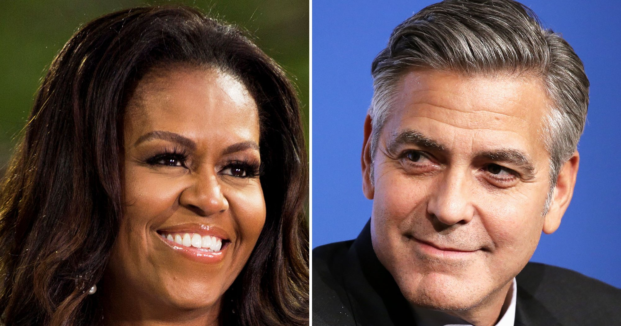 Michelle Obama Jokes That George Clooney Is Her 'Freebie,' She Can't Tell Sasha and Malia Apart