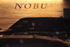Scott Disick and Sofia Richie had dinner with Kourtney Kardashian at Nobu in Malibu, CA.