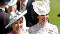 Catherine, Duchess of Cambridge (R) and her mother Carole Middleton