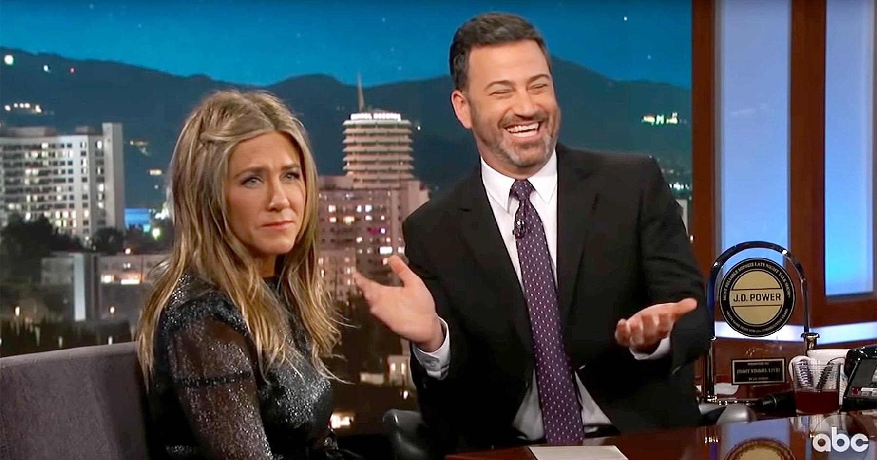 Jimmy Kimmel's Daughter Jane Pooped in Jennifer Aniston's Yard