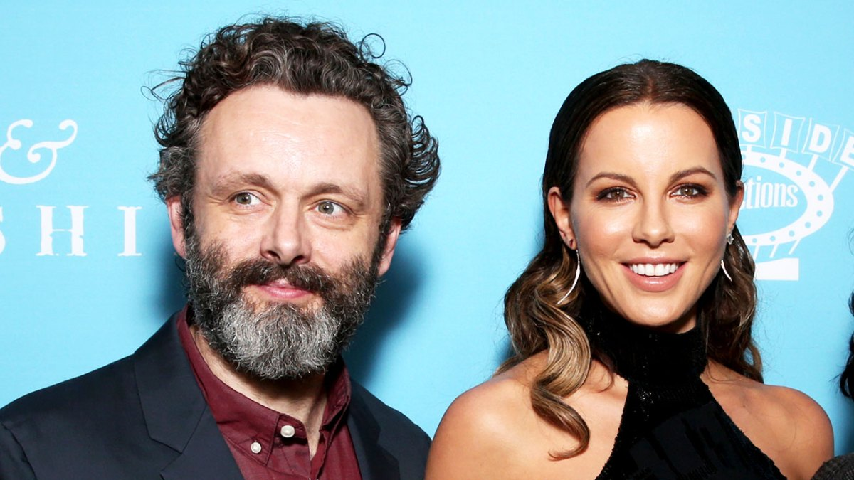 kate beckinsale spends holidays with michael sheen in bunny suit