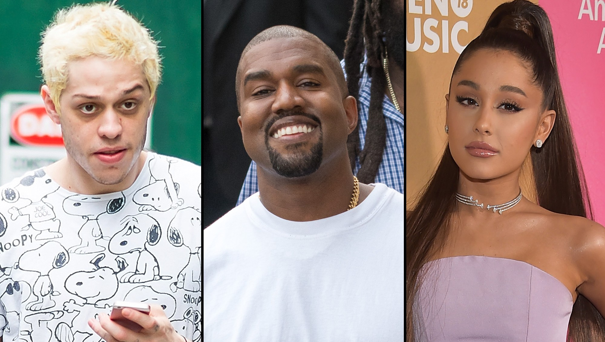 Pete Davidson Kanye West comments Ariana Grande