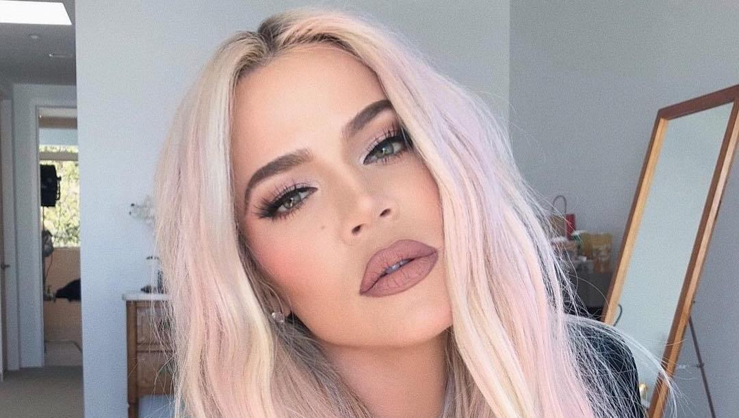 khloe kardashian pink hair