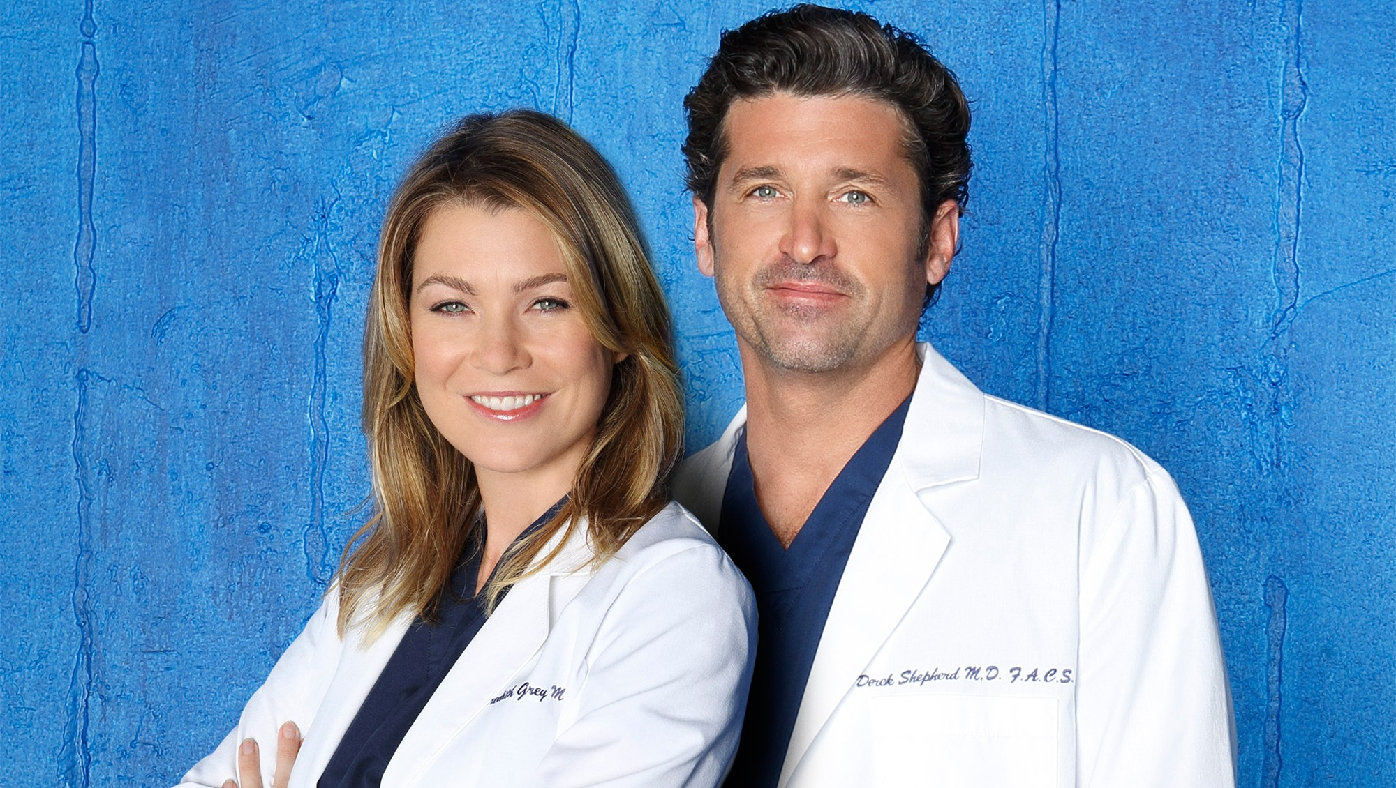 """Grey's Anatomy"" stars Ellen Pompeo as Dr. Meredith Grey and Patrick Dempsey as Dr. Derek Shepherd."