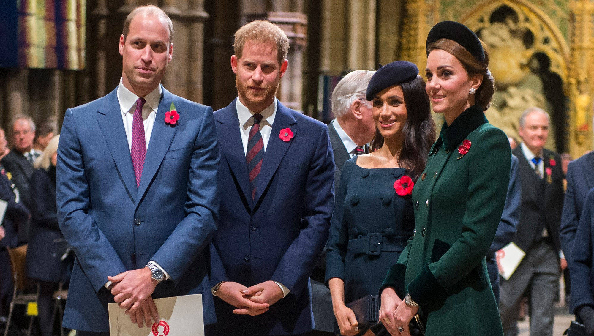 Prince William, Duke of Cambridge and Catherine, Duchess of Cambridge, Prince Harry, Duke of Sussex and Meghan, Duchess of Sussex.