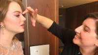 An Exclusive BTS Look at Emma Stone's Golden Globes Makeup Look