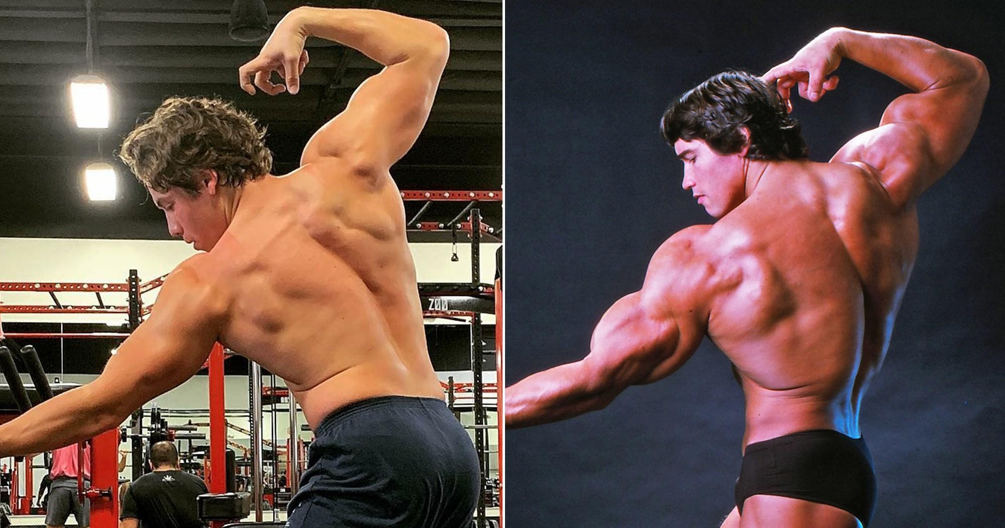 Arnold Schwarzenegger's Son Joseph Recreates His Iconic Bodybuilding Pose