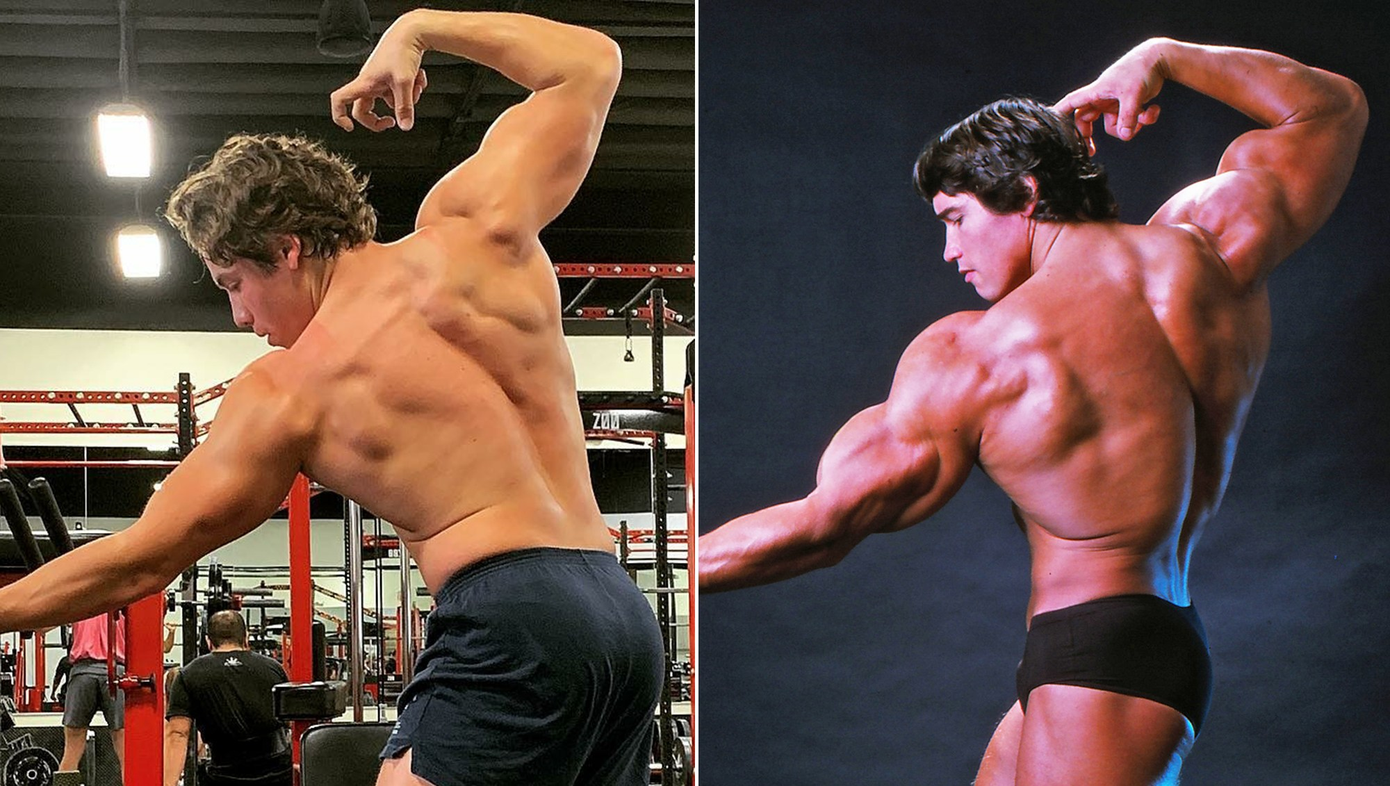 Arnold Schwarzenegger's Son Joseph Baena Recreates Actor's Body Builder Pose