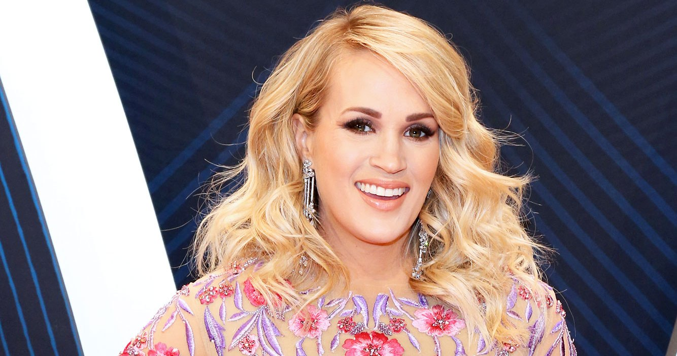 Pregnant Carrie Underwood Shows Off Her Bare Baby Bump in Photo With Son