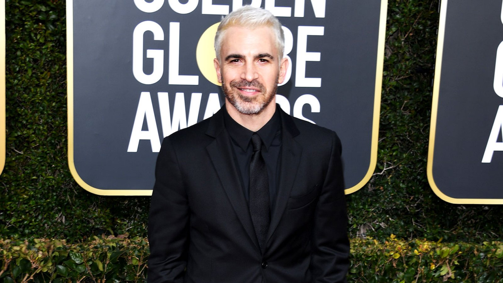 58312141586e Twitter Users Are Losing Their Minds Over Chris Messina's Platinum Blonde  Hair on the 2019 Golden Globes Red Carpet