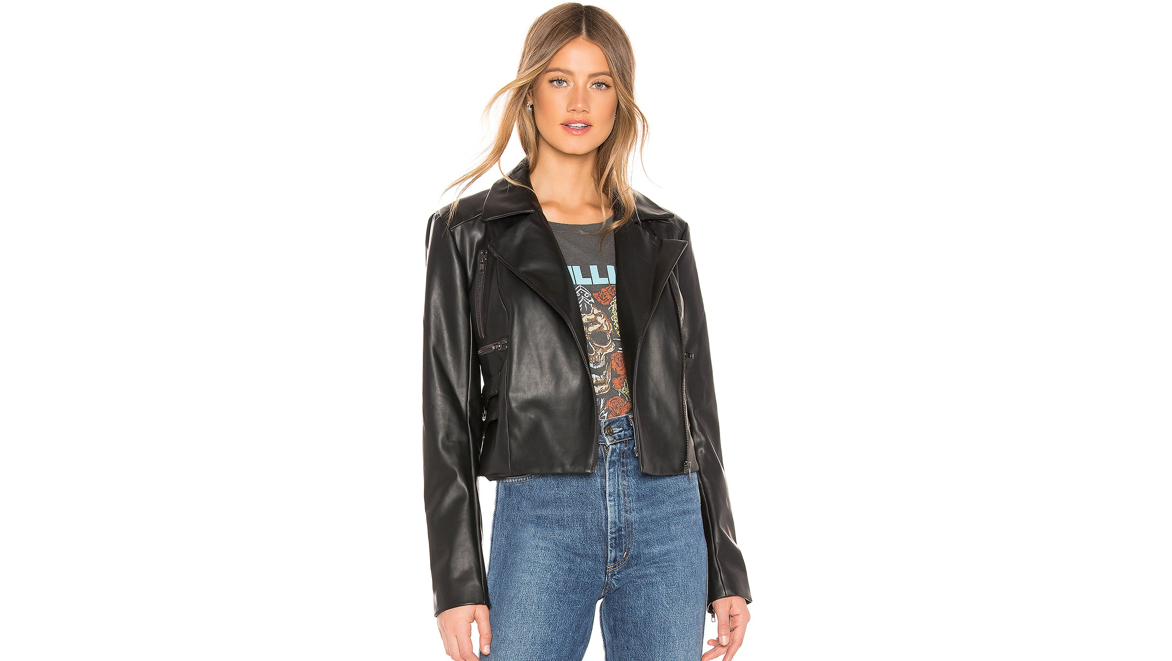 Revolve leather jacket