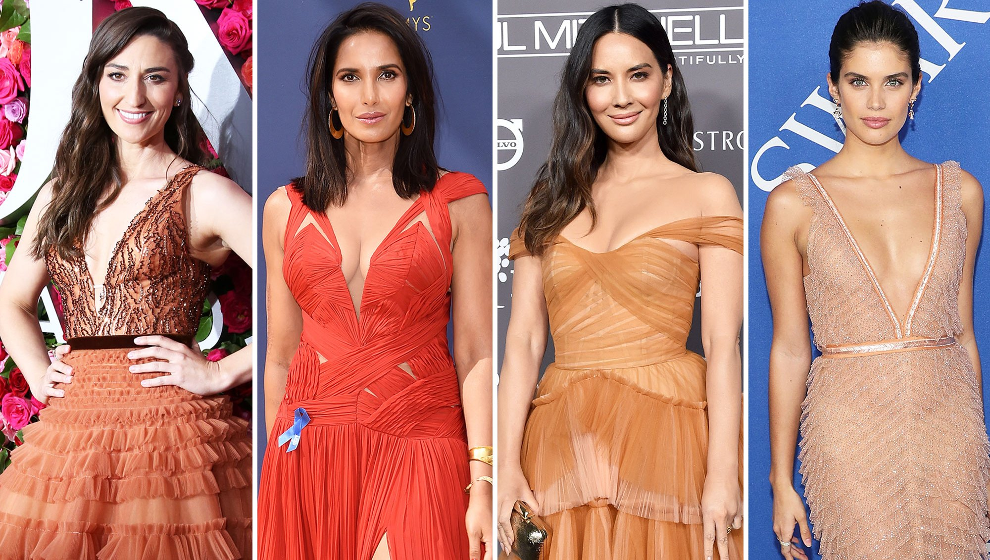 Red Carpet J. Mendel gallery for Stylish Sara Bareilles, Padma Lakshmi, Olivia Munn, and Sara Sampaio