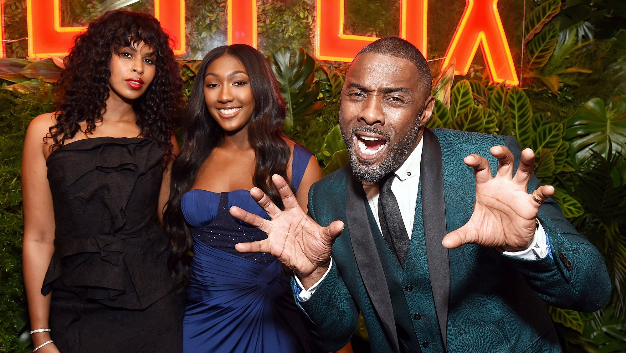 Golden Globes 2019 Afterparties Sabrina Dhowre Isan Elba Idris Elba
