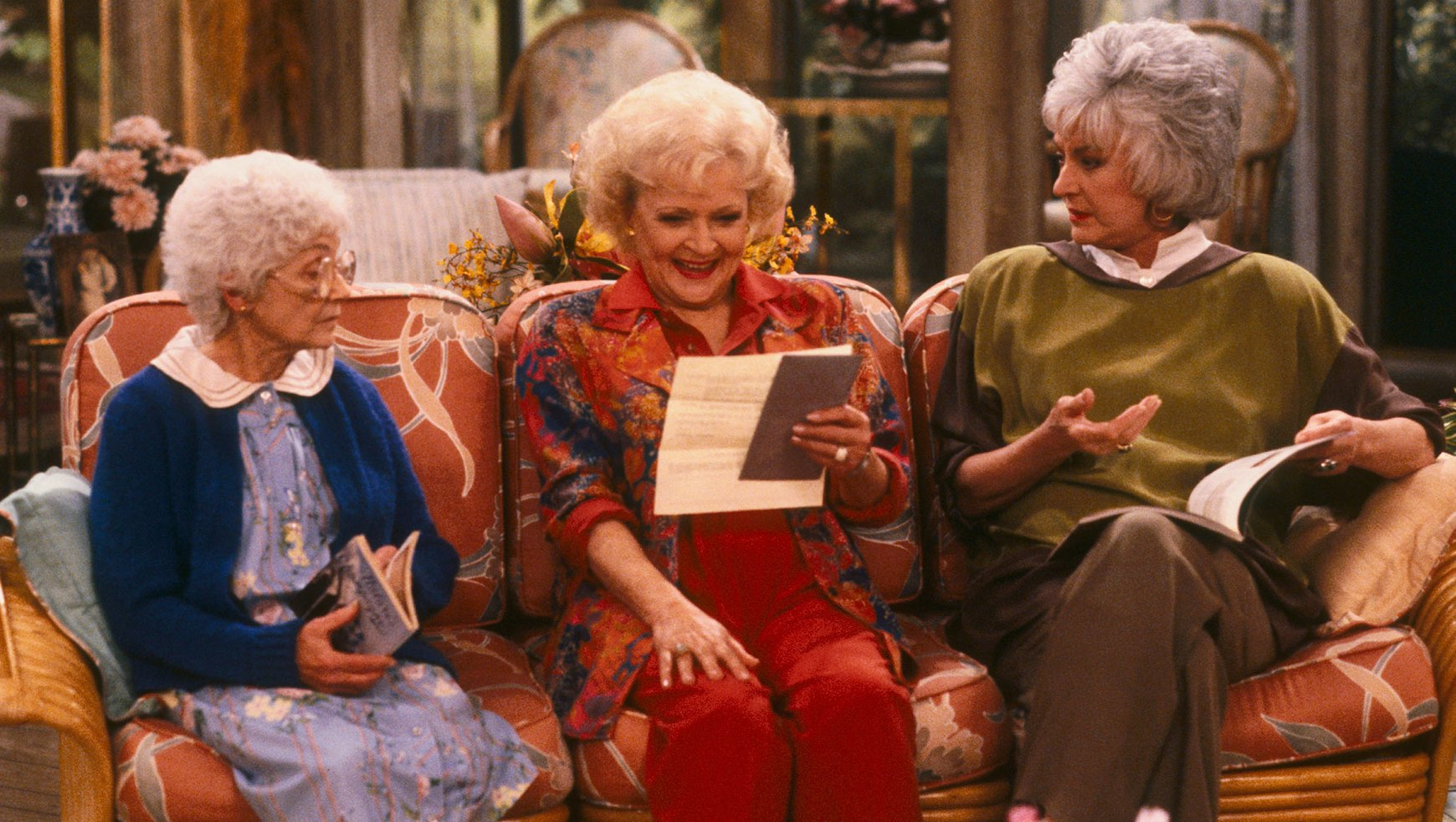THE GOLDEN GIRLS - 9/24/85 - 9/24/92, ESTELLE GETTY, BETTY WHITE, and BEA ARTHUR