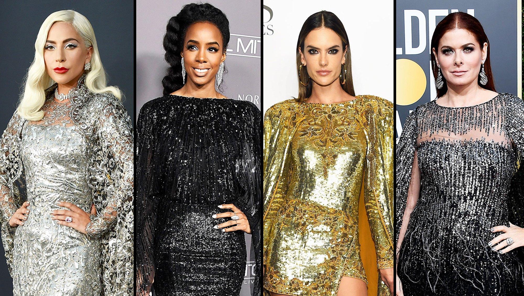 Lady Gaga, Kelly Rowland, Alessandra Ambrosio and Debra Messing