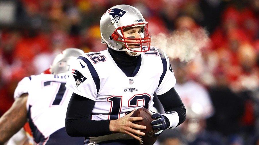 Tom Brady #12 of the New England Patriots super bowl